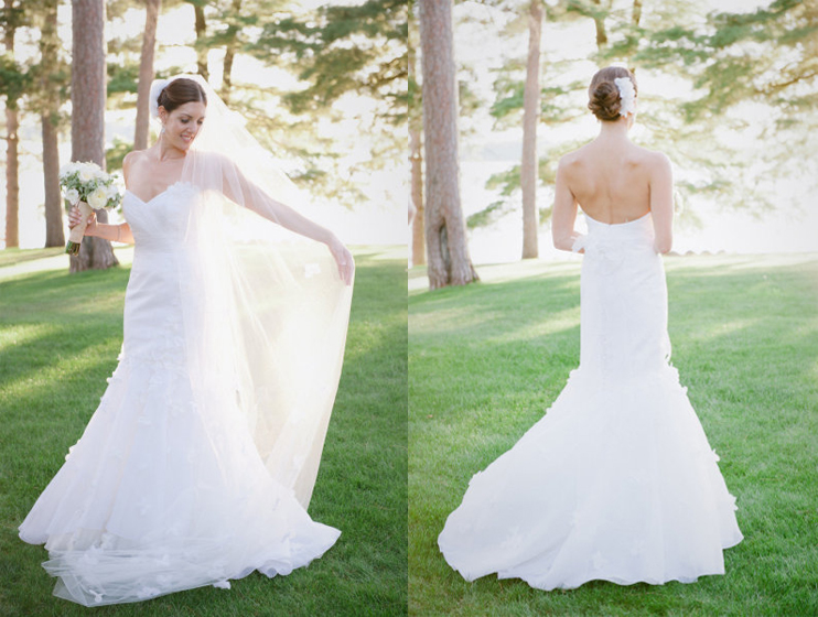 Donley on style me pretty for Sample wedding dresses chicago